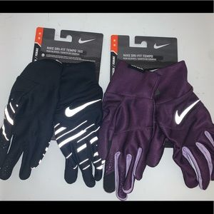 🔐 LOT OF 2 WOMENS NIKE TEMPO 360 RUNNING GLOVES